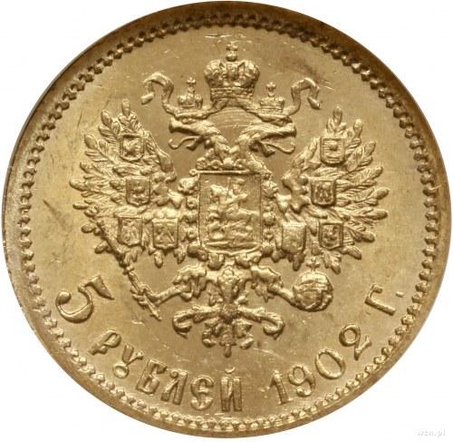 5 rubli 1902 AP, Petersburg; Bitkin 29, Fr. 180, Kazako...