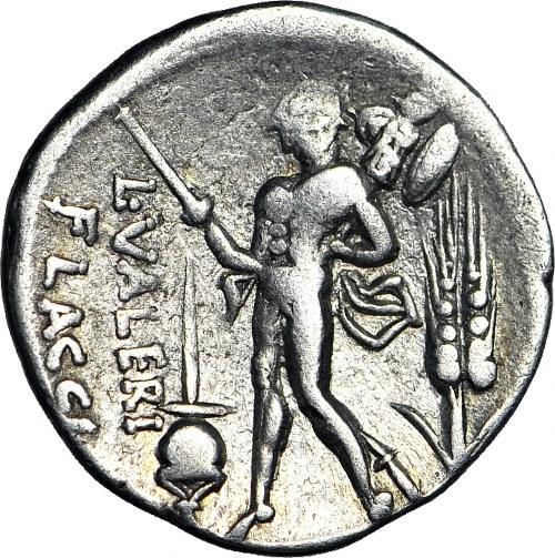Republika Rzymska, L. Valerius Flaccus 108/107 pne, Denar