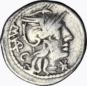 Republika Rzymska, M. Vargunteius 130 pne, Denar