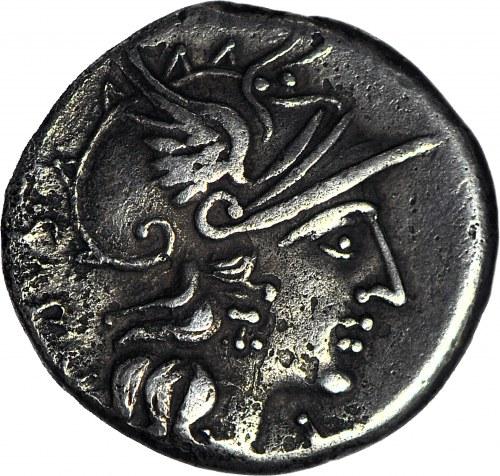 Republika Rzymska, M. Atilius Saranus 148 pne, Denar
