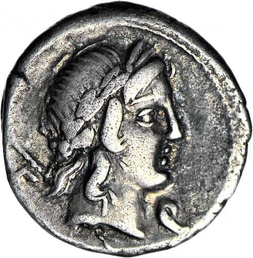 Republika Rzymska, Republika, P. Crepusius 82 pne, Denar