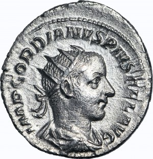 Cesarstwo Rzymskie, Gordian III 238-244 ne, Apollo, Antoninian 242-243 ne
