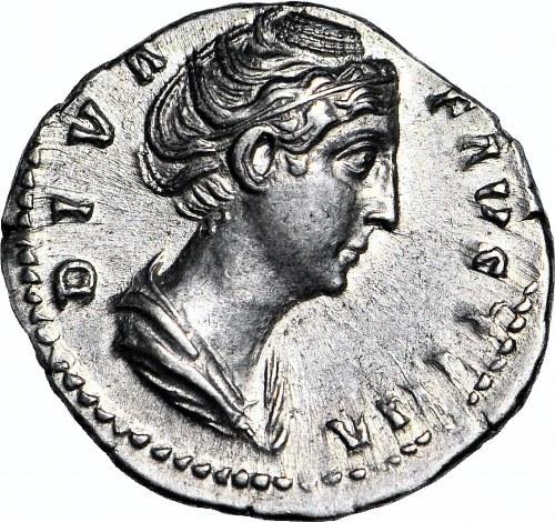 Cesarstwo Rzymskie, Faustyna I 138-161 ne, Aeternitas, Denar, MENNICZY