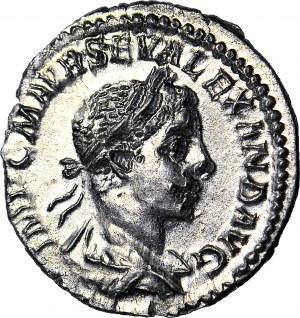 Cesarstwo Rzymskie, Aleksander Sewer 222-235 ne, Jupiter, Denar 222 r., MENNICZY