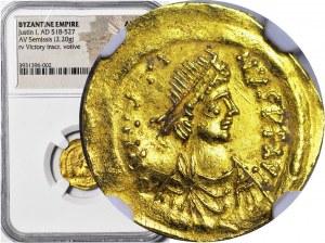 Cesarstwo Bizantyjskie, Justinian I. 518-527 Tremissis, Konstantynopol