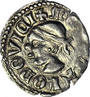 RR-, Ludwik Węgierski (Andegaweński) 1370-1382, Denar Saracen, jednostronny