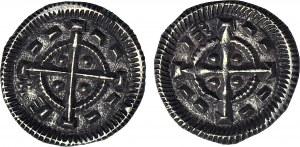 2 szt. Węgry, Bela II Ślepy 1131-1141, Denary