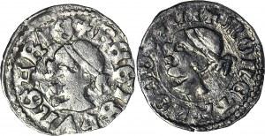 2 szt. Ludwik Węgierski (Andegaweński) 1370-1382, Denary Saracen