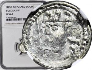 Bolesław Śmiały 1058-1079, Denar, typ królewski, litera O za głową