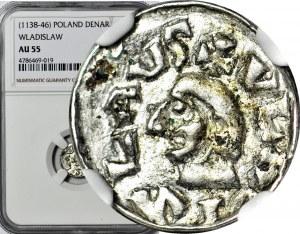 Władysław I Herman 1081-1102, Denar przed rokiem 1086, Kraków, pierwsza emisja, WYŚMIENITY