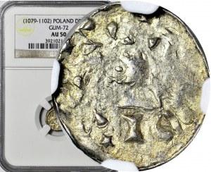 Władysław I Herman 1081-1102, Denar Kraków, druga emisja z gwiazdką