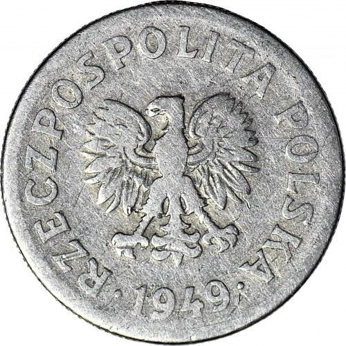 RRR-, 50 groszy 1949, DESTRUKT, brockage, bardzo rzadkie