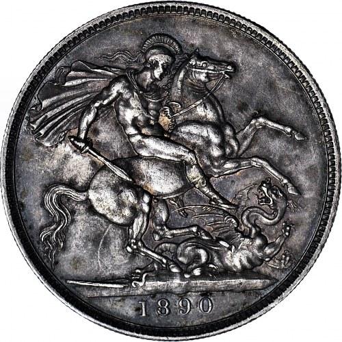 Wielka Brytania, Wiktoria, Korona 1890, Londyn, 50-lecie panowania