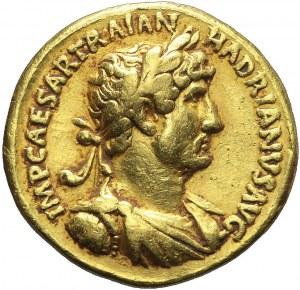 Cesarstwo Rzymskie, Hadrian, Aureus, Rzym, AD 119-122, rzadki