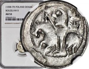 RR-, Bolesław II Śmiały 1058-1079, Denar, błąd BIELZVAS (zamiast BOLEZLAVS)