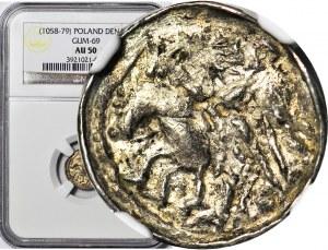 RR-, Bolesław II Śmiały 1058-1079, Denar, błąd BOLALZLAV, koń - CIENKIE NOGI W BUTACH