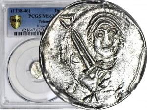 Władysław II Wygnaniec 1138-1146, Denar, książę w CZEPCU, biskup, menniczy