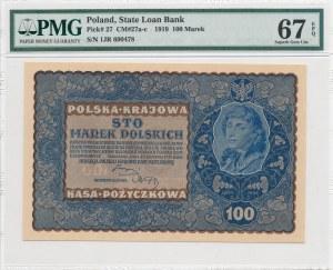 100 marek polskich 1919 - IJ Seria R, otwarta 4 w numeratorze