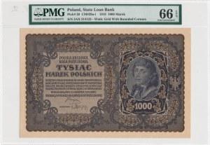 1.000 marek polskich 1919 - III Seria AX, otwarta 4 w numeratorze