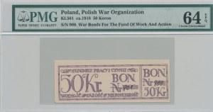 RRR-, 50 koron 1918, Bon na cele patriotyczne, Całość - Niepodległość