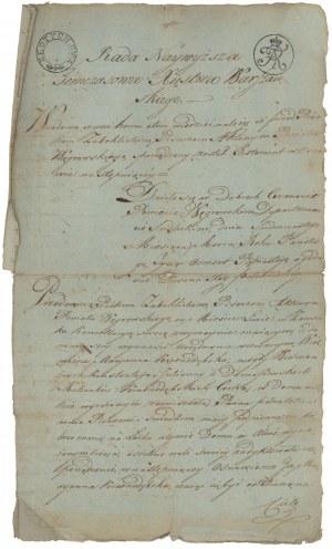 Rada Najwyższa Tymczasowa Księstwa Warszawskiego, dokument 1815 r.