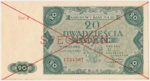 20 złotych 1947 - SPECIMEN - Ser.A