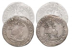 Zygmunt I Stary, Trojaki Kraków 1528 - Orzeł w lewo i w prawo (2szt)