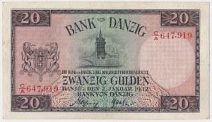 Gdańsk, 20 guldenów 1932 - C/A