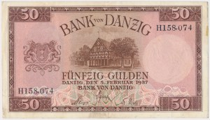 Gdańsk, 50 guldenów 1937 - H