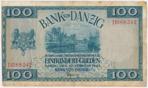 Gdańsk, 100 guldenów 1924 - D