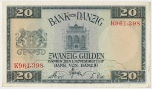 Gdańsk, 20 guldenów 1937 - K
