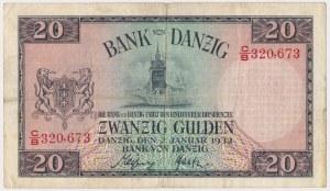 Gdańsk, 20 guldenów 1932 - C/B