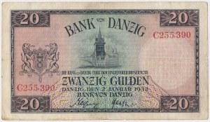 Gdańsk, 20 guldenów 1932 - C