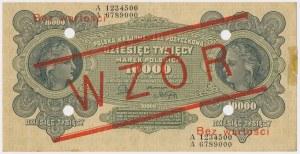 10.000 mkp 1922 - WZÓR - A 1234500 678900
