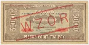 50.000 mkp 1922 - WZÓR - bez perforacji