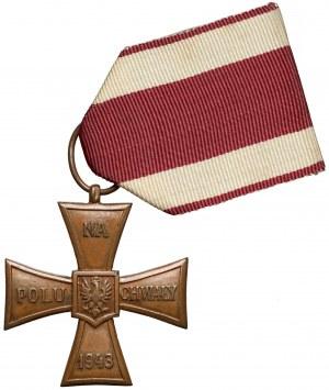 Krzyż Walecznych z datą 1943 Polskich Sił Zbrojnych w ZSRR - Wzór 1 - RZADKI