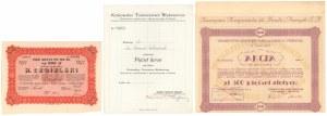 H. Cegielski, Tow. Kontynentalne dla Handlu... i Udział Krakowskie Tow. Wydawnicze (3szt)