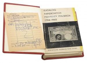 Jabłoński, Katalog papierowych pieniędzy polskich 1794-1965 z dowodem zakupu w Dessa