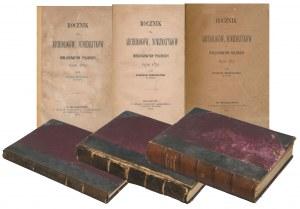 Roczniki dla Archeologów i Numizmatyków 1869-1870 (3 tomy)