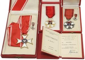 Krzyż Komandorski Orderu Odrodzenia (III kl.) i Sztandary Pracy I i II kl. po prof. Bilińskim