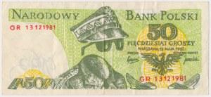 Solidarność, 50 groszy 1982 - intensywnie zielony