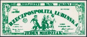 Solidarność, 1 miedziak 1985 Rzeczpospolita Lubińska