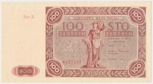 100 złotych 1947 - Ser.A - duża litera
