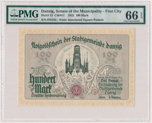 Gdańsk, 100 marek 1922