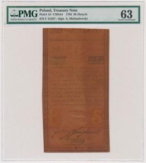 50 złotych 1794 - C - piękny stan zachowania