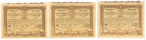 Warszawa 7-ma Pożyczka, Obligacje 1903 r. na 100 rub (3szt)
