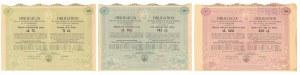 Warszawa VIII-ma Poż. Konwersyjna, Obligacje 1930 r. - zestaw (3szt)