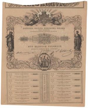 Powstanie Styczniowe, Pożyczka Ogólna Narodowa Polska, 100 złotych 1863