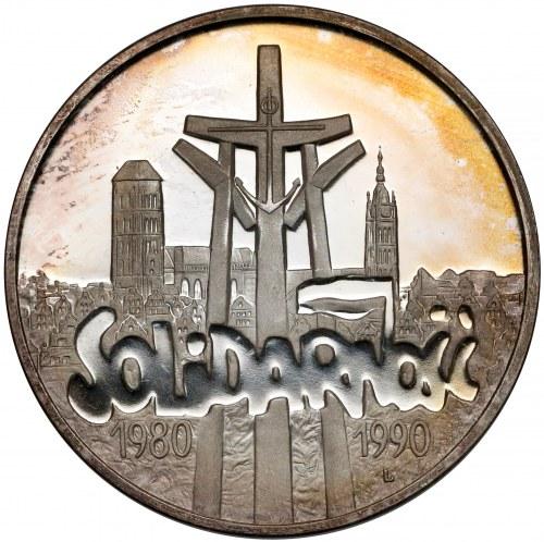 100.000 złotych 1990 Solidarność odm. D - LUSTRZANE