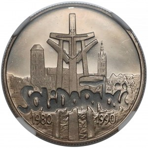 10.000 złotych 1990 Solidarność - lustrzane